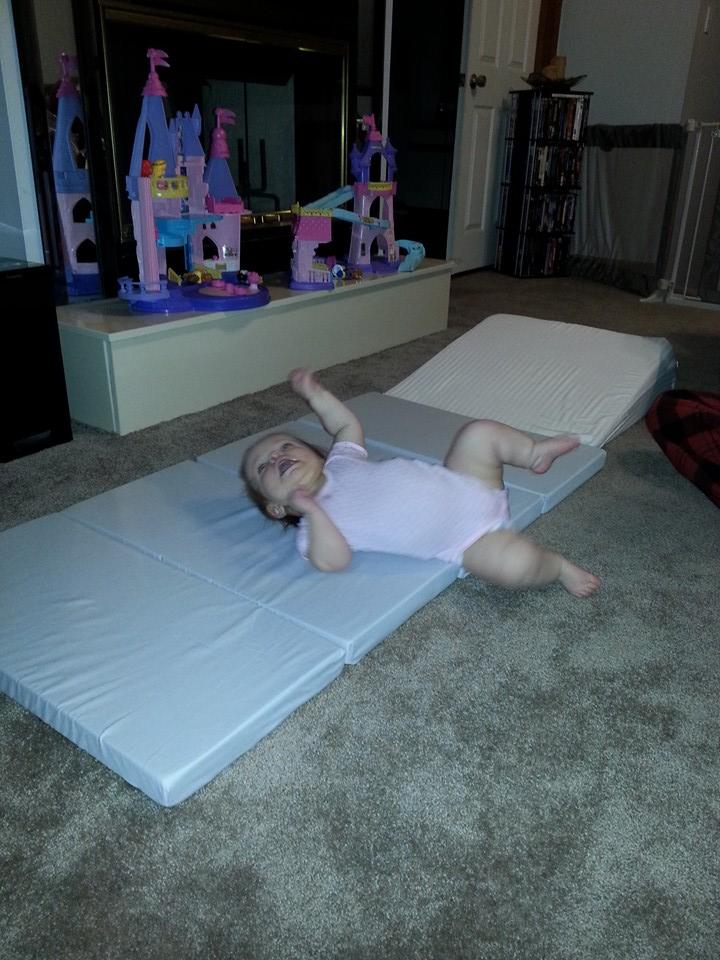 Emma loves her Zip-n-Grow nap map!