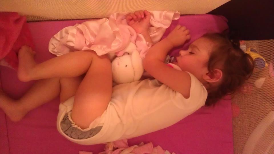 Kyla napping, she loves it!